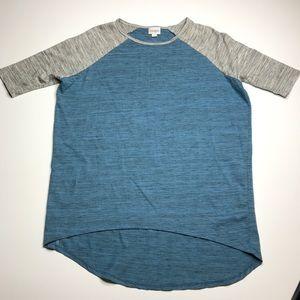 LuLaRoe Short Sleeve Blue Gray T-shirt XXS
